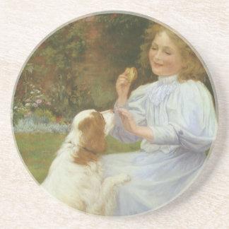 Vintage Animal Art, Pleasures of Hope by Gore Coasters