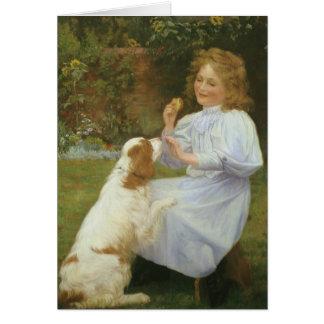 Vintage Animal Art, Pleasures of Hope by Gore Greeting Card