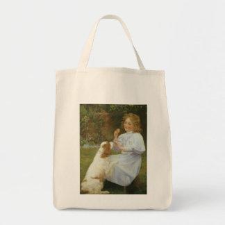 Vintage Animal Art, Pleasures of Hope by Gore Grocery Tote Bag