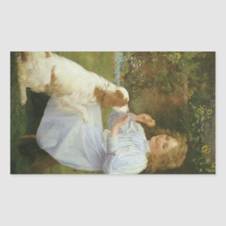 Vintage Animal Art, Pleasures of Hope by Gore Rectangular Sticker