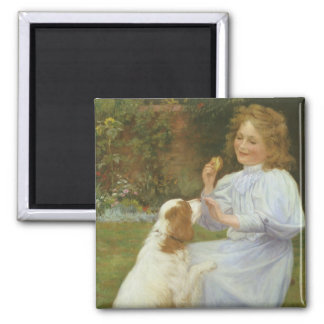 Vintage Animal Art, Pleasures of Hope by Gore Square Magnet