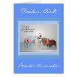 Vintage Animal Customisable Haiku Greeting Card