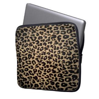Vintage Animal print fur of leopard Laptop Sleeve