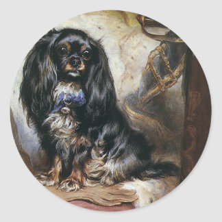 Vintage Animals Black Toy Spaniel Pet Dog Stickers