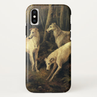 Vintage Animals, Greyhound Dogs in the Forest iPhone X Case