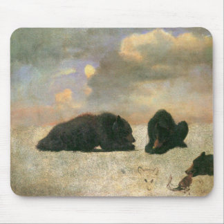 Vintage Animals, Grizzly Bears by Albert Bierstadt Mouse Pad
