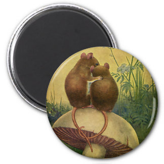 Vintage Animals, Love and Romance Field Mice Magnet