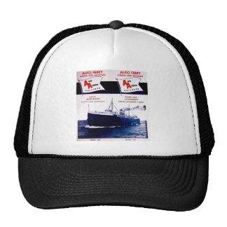 Vintage Ann Arbor Railroad Car Ferry Lake Michigan Mesh Hats