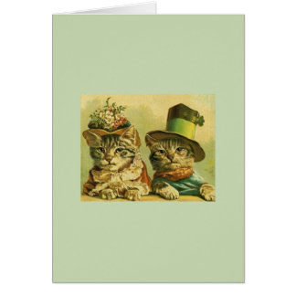 Vintage Anniversary Cats Greeting Card