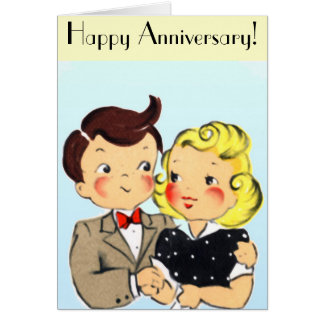 Vintage Anniversary Couple Greeting Card