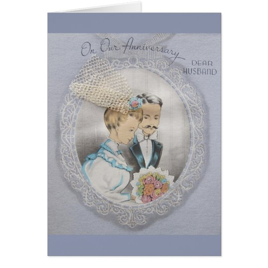Vintage Anniversary For Husband Greeting Card