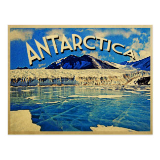 Vintage Antarctica South Pole Postcard