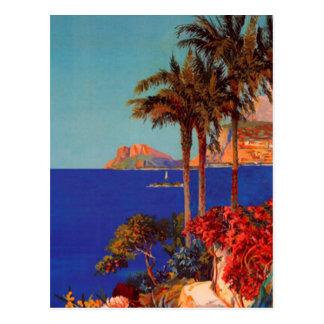 Vintage Antibes Cote D'Azur Landscape Postcard