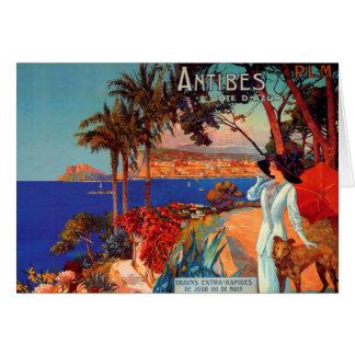 Vintage Antibes Cote D'Azur Travel Cards