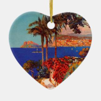 Vintage Antibes Cote D'Azur Travel Christmas Ornament