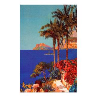 Vintage Antibes Cote D'Azur Travel Custom Stationery