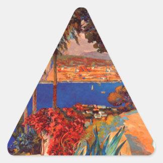 Vintage Antibes Cote D'Azur Travel Triangle Sticker