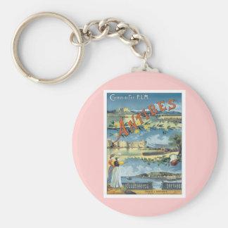 Vintage Antibes Mediterranean Key Ring