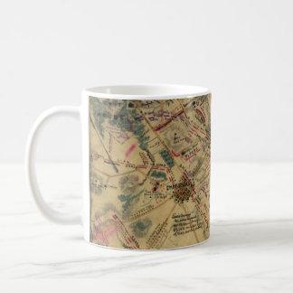 Vintage Antietam Battlefield Map (1862) Coffee Mug