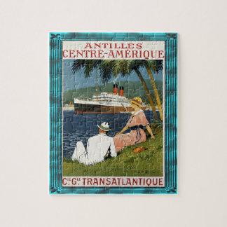 Vintage Antilles Cruise Art Jigsaw Puzzle