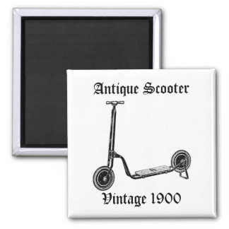 Vintage Antique 1900 Scooter Fridge Magnet