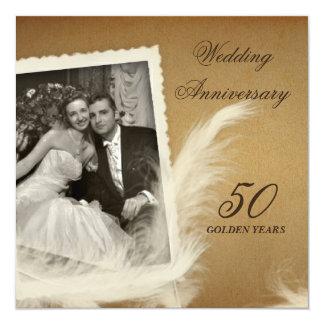 Vintage Antique 50th Anniversary Photo Invitations