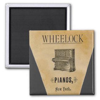 Vintage Antique Ad Pianos New York Fridge Magnet