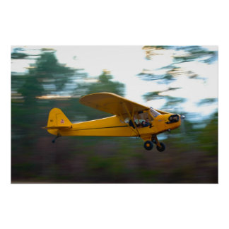 Vintage Antique Aircraft in Motion Print