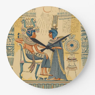 Vintage Antique Ancient Egyptian Royalty Large Clock