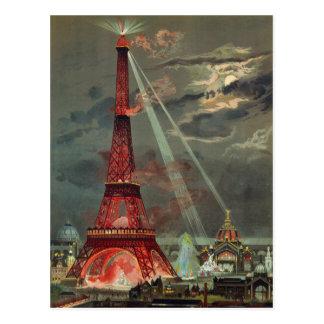 Vintage Antique Art Deco Eiffel Tower Paris France Postcard