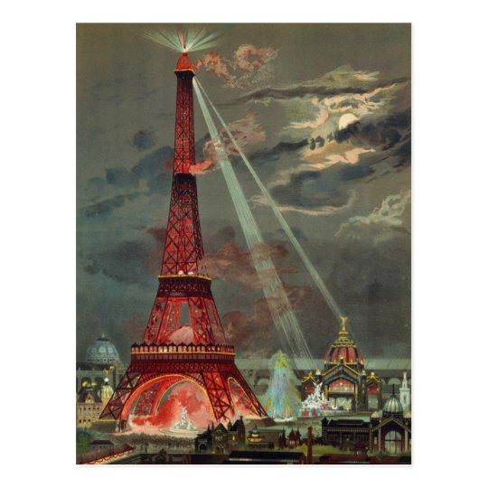 Vintage Antique Art Deco Eiffel Tower Paris France