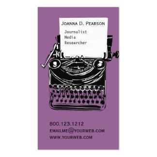 Vintage Antique Artistic Typewriter Writer Business Card
