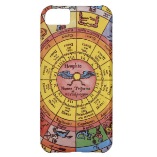 Vintage Antique Astrology, Celestial Zodiac Wheel iPhone 5C Case
