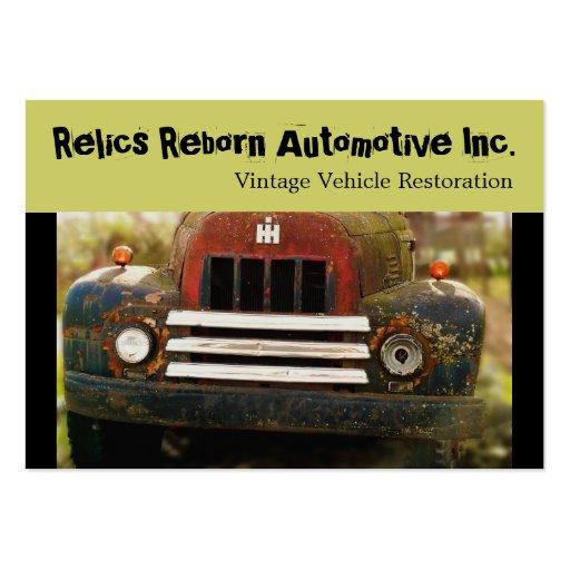 Vintage Antique Automobile Restoration Business Card Template