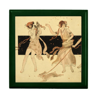Vintage Antique Bacchus Dionysus Party Large Square Gift Box