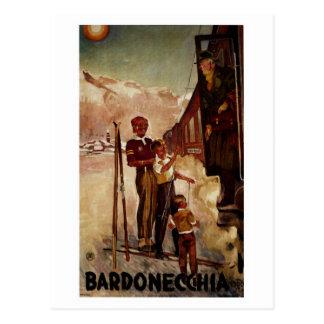 Vintage antique Bardonecchia Italian travel Post Card