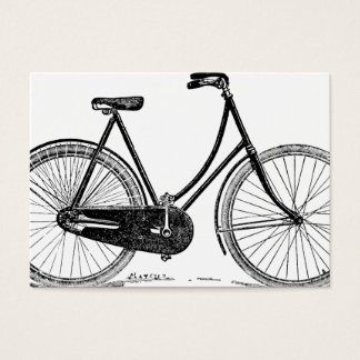 Vintage Antique Bicycle Silhouette Illustration Business Card
