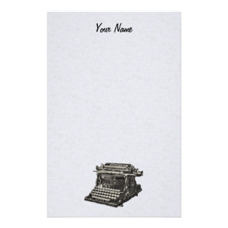 Vintage Antique Black Old Fashioned Typewriter Customised Stationery