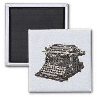 Vintage Antique Black Old Fashioned Typewriter Magnet