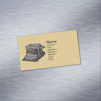 Vintage Antique Black Old Fashioned Typewriter Magnetic Business Cards