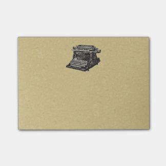 Vintage Antique Black Old Fashioned Typewriter Post-it Notes