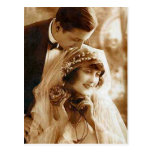 Vintage Antique Bride and Groom Romantic Gifts Post Cards