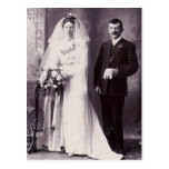 Vintage Antique Bride and Groom Romantic Gifts Postcards