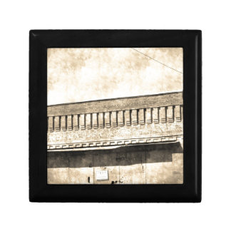 Vintage Antique Building Small Square Gift Box