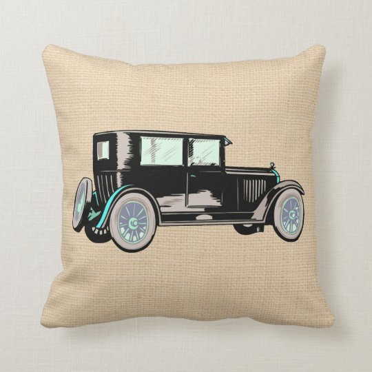 Vintage Antique Car Automobile Custom Pillow