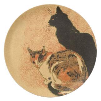 Vintage Antique Cats Theophile Steinlen Animals Plates