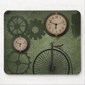 Vintage Antique Clocks Gears Mousepad