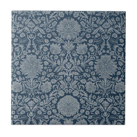 Vintage Antique Distressed Floral Damask Tile