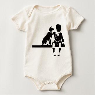 Vintage Antique Dog Child Kid Animal Graphic Bold Baby Bodysuit