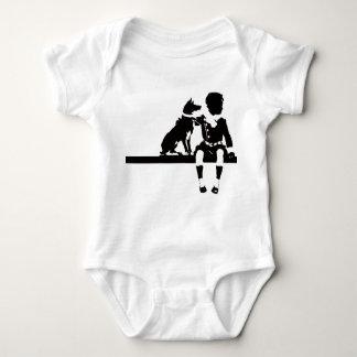 Vintage Antique Dog Child Kid Animal Graphic Bold T Shirt
